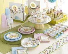 Host a Baby Owl ShowerWeve been looking high and low for a good baby shower theme featuring woodland animals, and heres the best!  Available for immediate shipment, our brand new Happy Tree Baby Shower party supplies feature a gender-neutral color palette of chocolate brown, ivory, and both pastel blue and pink.Not only will the colors satisfy, but the range of products is unmatched!  We have the usual tableware, along with confetti, favor bags, cupcake wrappers, various banners, and