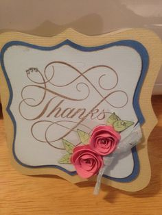 Thank you card - Close to My Heart stamp.