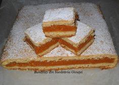 Romanian Food, Romanian Recipes, No Bake Desserts, Vanilla Cake, Cheesecake, Food And Drink, Thanksgiving, Cooking Recipes, Sweets