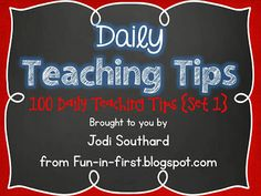 Daily Teaching Tips {Free Download}