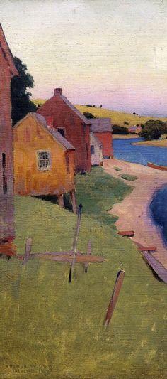 """Arthur Wesley Dow- """"Ipswich Shanties"""", 1892"""