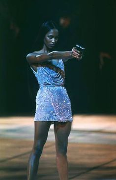 most badass chick at versace spring/summer in 1998