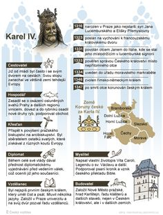 Karel IV. - Foto: Michal Jindra Education English, Kids Education, Teaching English, Numbers For Kids, Prague Czech Republic, Jokes For Kids, School Notes, Teaching History, Elementary Science