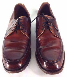 430ae53cd0284 Men s Vintage JC Penney Light Brown Lace Up Oxford Dress Shoes US Sz 8 1