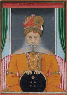 Maharaja Sardar Singh of Bikaner, ca. 1860–70. India (Rajasthan, Bikaner). The Metropolitan Museum of Art, New York. Fletcher Fund, 1996 (1996.100.7) #mustache #movember