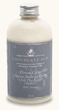 Chocolate Sun | Cocoa Glow | uses natural DHA from beets instead of cancer causing synthetics
