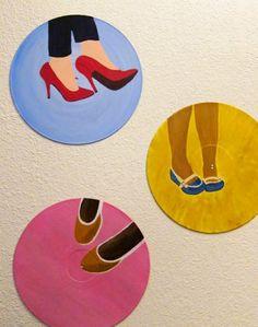 rachel's painted vinyl records.