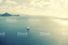 Sailing landscape royalty-free stock photo