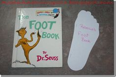 Pre-K Dr. Seuss' Birthday: have students trace their feet and measure with ruler (measuring unit)