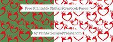 Reindeer Heart Digital Papers