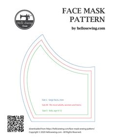 face mask diy sewing pattern Face Mask Pattern (FREE) - How To Make Diy Mouth Mask Sewing Patterns Free, Sewing Tutorials, Free Pattern, Sewing Projects, Pocket Pattern, Sewing Hacks, Easy Face Masks, Diy Face Mask, Mens Face Mask