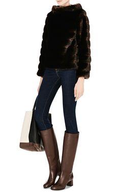 M'O Exclusive: Faux Fur Pullover Top by Harvey Faircloth - Moda Operandi