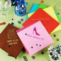 Personalized Birthday Napkins by Beau-coup