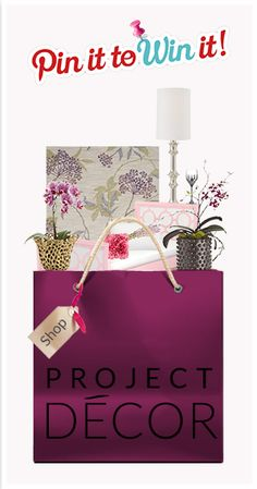 Pin your favorite shopping bag and get a chance to win something inside! Click thru to enter. #projectdecor #pintowin