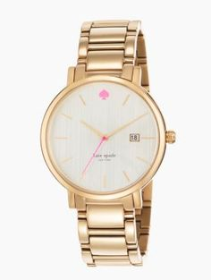 a style that is as lovely as a walk in the park, this classic timepiece was inspired by manhattan's gramercy park, a charming neighborhood once host to writers oscar wilde and o. henry. crafted of stainless steel or gold-plated metal with a mother-of-pearl dial, the versatile design lends itself perfectly to office attire and cocktail dressing alike.
