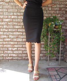 éloges Black Pencil Skirt by éloges #zulily #zulilyfinds