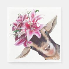 50 Paper Napkins Lily the Goat #cats #gift #home goat cheese, goat barn, goat pen, back to school, aesthetic wallpaper, y2k fashion