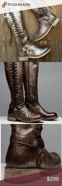 Bed Stu Burnley tall brown leather boots Wow...these are gorgeous & the leather smell makes them even better! From their Cobbler series...Bed Stu Burnley boots. Run small, would best fit a 7.5-8. Bed Stu Shoes Lace Up Boots