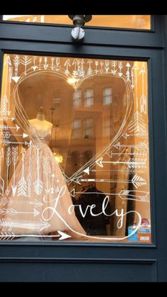 Lovely bridal shop window dressings store window displays, s