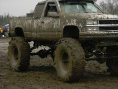 someday I'm gonna have a big muddy truck! can find Muddy trucks and more on our website. someday I'm gonna have a big muddy truck! Jacked Up Chevy, Lifted Chevy Trucks, Jeep Truck, Chevrolet Trucks, Gmc Trucks, Diesel Trucks, Pickup Trucks, 1957 Chevrolet, Chevrolet Impala