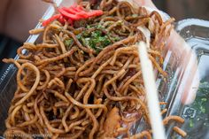 Yakisoba just like I used to get at the street festivals in Misawa, Japan. I miss it!