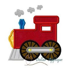 Train Applique - 3 Sizes! | What's New | Machine Embroidery Designs | SWAKembroidery.com Dollar Applique
