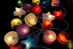 Star & Moon Paper String Light  Fairy Light Bedroom or Party