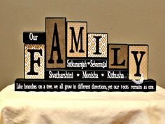 our family personalized home decor wood blocks family valentine gift parents anniversary present gifts for home mom birthday gift - Personalized Home Decor