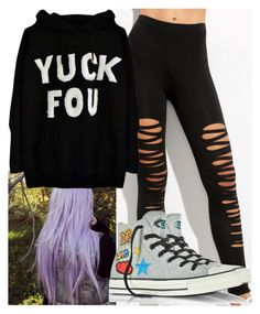 """""""Untitled #9700"""" by carmellahowyoudoin ❤ liked on Polyvore featuring Converse"""