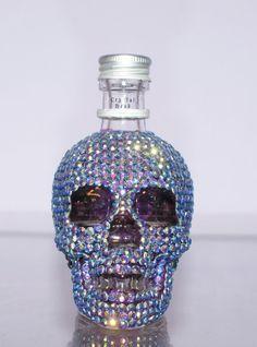 CRYSTAL SKULL BOTTLE / Rhinestone Perfume Bottle