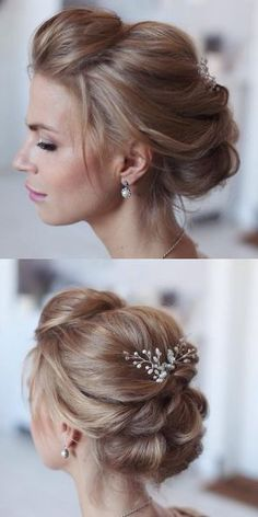Featured Hairstyle: tonyastylist (Tonya Pushkareva) www.instagram.com/tonyastylist/; Wedding hairstyle idea.