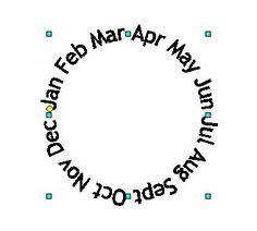 Text in a circle shape using Open Office and MS Word