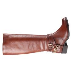 ALDO - BAHR Boots - $200.  Material: Leather Sole: Rubber DCS: 13-04-04  Everybody will love these practical and yet sexy riding boots for everyday style. - Riding boot. - Western straps. - Metal buckles and chain. - Threaded sole and block heel. - Heel Height: 1.25 in. - Shaft Height: 14 in.