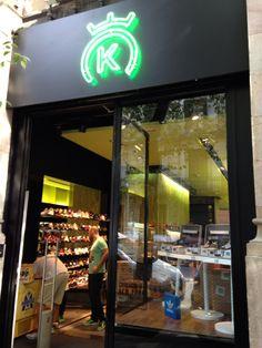 Rotulo de neon en Barcelona 24 kilates