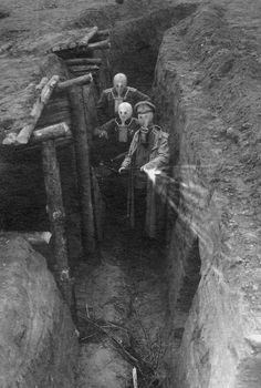 German trench during WWI