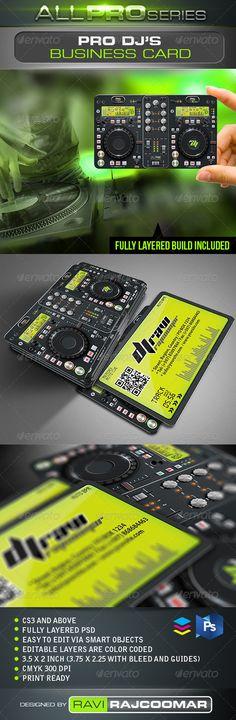 Pro DJ Business Card - GraphicRiver Item for Sale