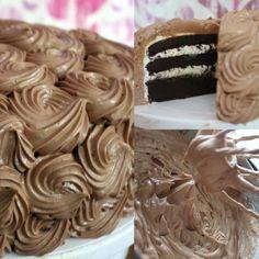 Chocolade rozen taart - Baksels van Merel