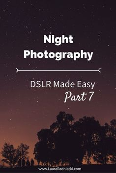 DSLR Made Easy: Part 7 - Night Photography. This is the seventh post in a blog series about the basics of photography. Here, we talk about how to master night photography; especially how to take photos of the moon and other bright objects without getting reflection blur.