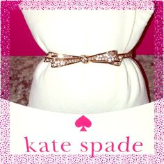 Kate Spade♠️Rose Gold Bow Bracelet @obriensquared ✨ NWTs Kate Spade ♠️ Rose Gold Tone Pave Bow Hinged Bracelet @obriensquared • Includes dust bag • smoke free home • 20% donated to the American Cancer Society • Thanks & Happy Poshing! ✨ kate spade Jewelry Bracelets