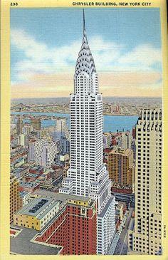 Vintage postcard, Chrysler Building