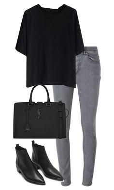 """Untitled #2422"" by elenaday ❤ liked on Polyvore featuring Marc by Marc Jacobs, Chicwish, Acne Studios and Yves Saint Laurent"