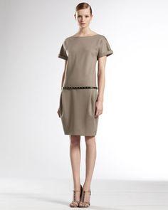 B1THU Gucci Gathered Waist Dress