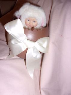 anne geddes Easter doll toy decoration decor in chocolate looking egg toy baby