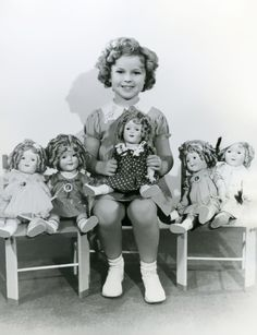 Shirley and Shirley Temple dolls