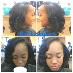 SilkPress and curled by Ruckstyles