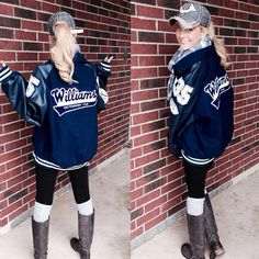 college football game outfit cold / college foo… – Creative Dress Of College Game Day Mom Outfits, College Outfits, Cute Outfits, School Outfits, College Football Games, Football Outfits, Football Jackets, Football Shirts, Letterman Jacket Outfit