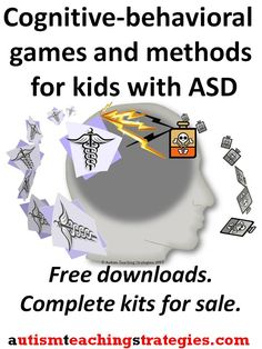 Cognitive behavioral games and activities to use with children with Asperger's and other autism spectrum disorders. For therapists, counselors, SLP's and teachers. This was pinned by pinterest.com/joelshaul/ .  Follow all our boards.