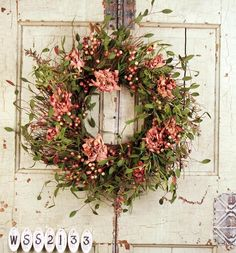 Crazy About Coral Silk Wreath For Front Door