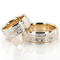 @25karats Exclusive Floral Design His and Hers #Wedding #Band