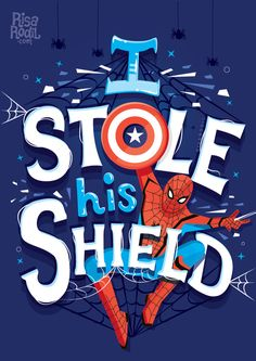 """""""I stole his shield"""" – Spider Man – Peter Parker – Avengers – Infinity War – Mar… """"I stole his shield"""" – Spider Man – Peter Parker – Avengers – Infinity War – Marvel – Movie – Hand Lettering by RIsa Rodil Marvel Universe, Marvel Avengers, Marvel Fan Art, Marvel Funny, Captain Marvel, Marvel Films, Marvel Characters, Marvel Cinematic, Marvel Quotes"""